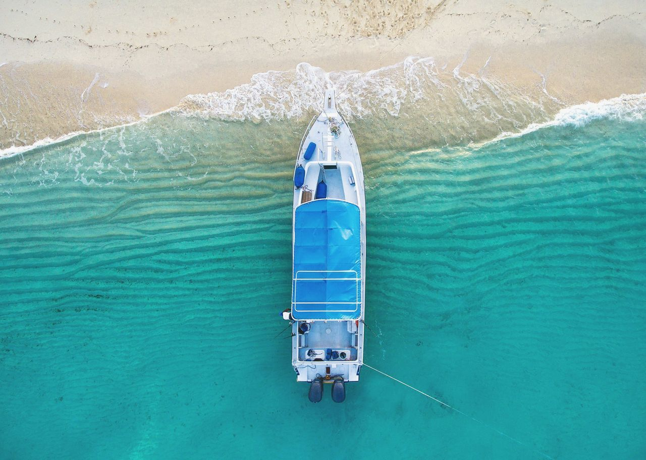 Beautiful stock photos of boote,  Beach,  Beauty In Nature,  Blue,  Boat