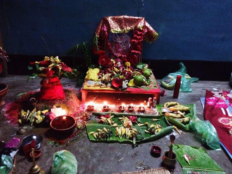 Navratri2016 Pujatime Puja_prepartion Human Representation No People Variation Indoors  Celebration Cultures Figurine  Night Diya - Oil Lamp