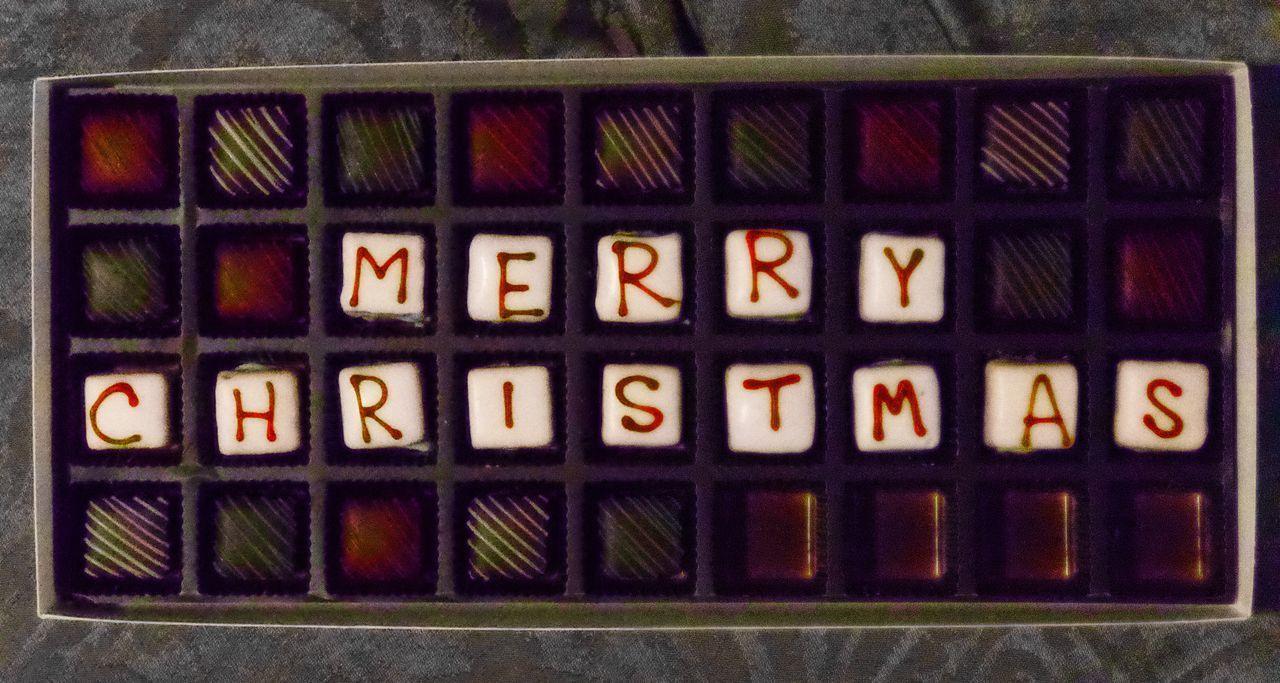 "Nothing says ""Christmas"" like chocolate 🍫 Polarr Edition Polarr Polarrist Polarr Editor IPhone Photography Iphonephotography Iphoneonly IPhoneography Pureshot Text Alphabet Indoors  No People Communication Multi Colored Close-up"