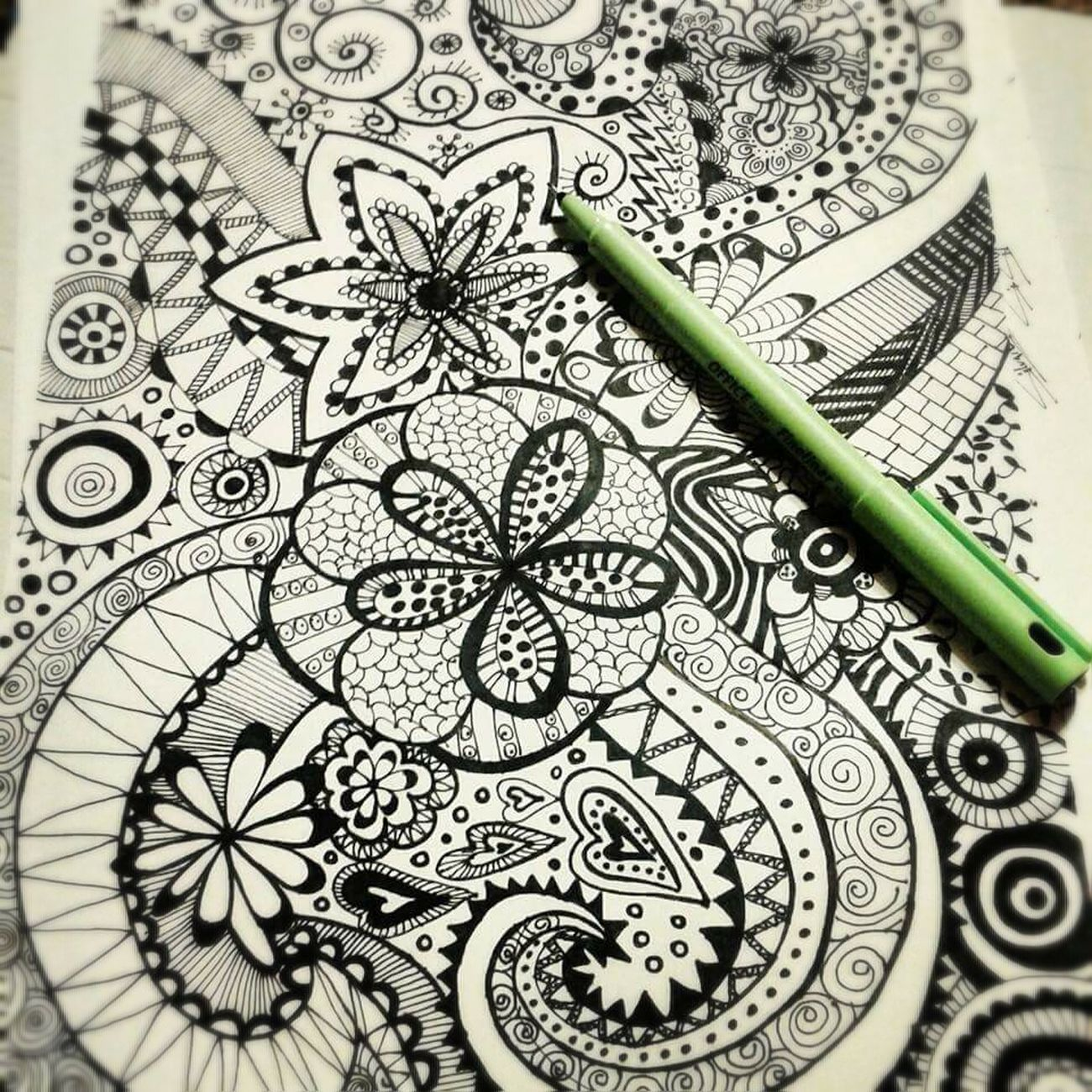 No People Zentangles Ink EyeEm Vision Ilustration Dibujo Dibujoamano Handmade For You