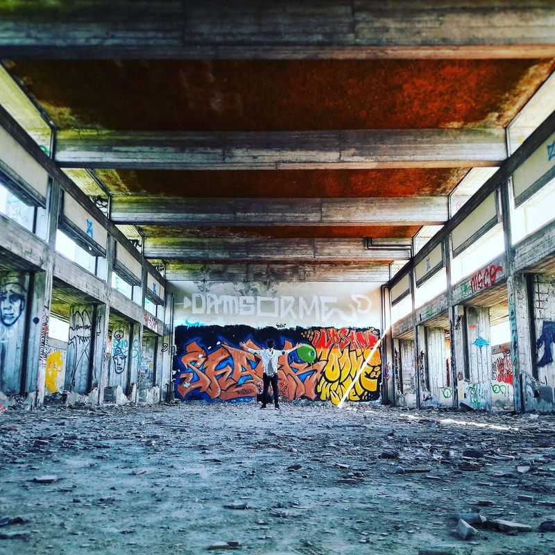 Landscape Lostplace Lostplacephotography Built Structure Graffiti Street Art No People Indoors  Multi Colored Architecture Day Bologna Italy🇮🇹 2faces Eye4photography  EyeEmNewHere Italy❤️ EyeEm Best Shots