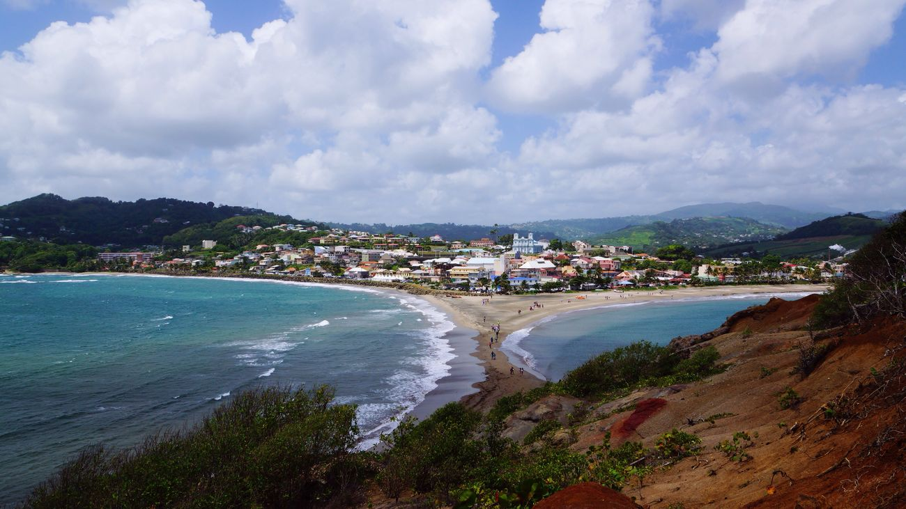West Indies Sand Formation Caribbean Seascape Coast Tombolo Sea Island Landscape Feel The Journey