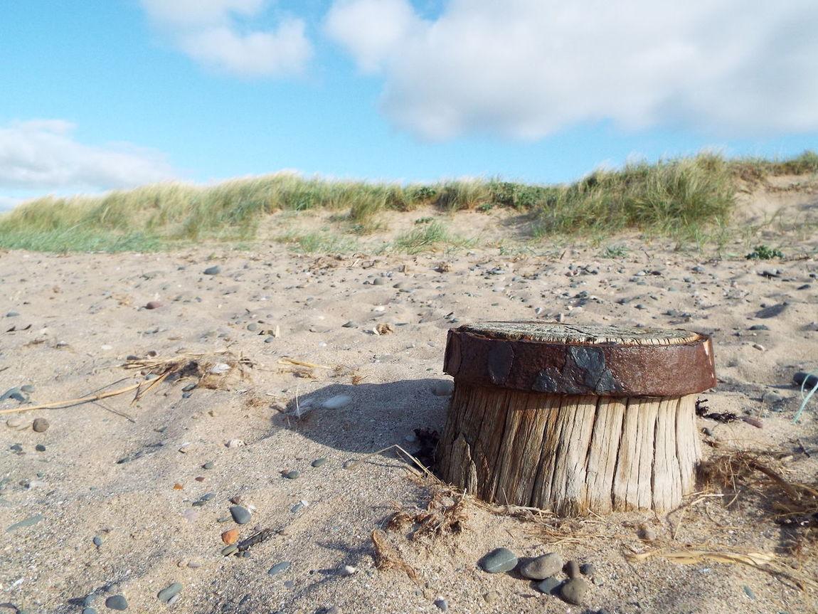 Fleetwood Beach Marram Grass Sand Post
