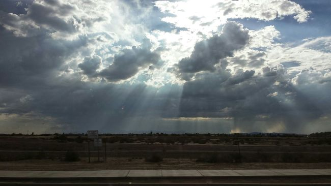 RePicture Growth Sun Clouds Rain Desert Beauty Sunrays Serene Stormy Weather Pure Clean Air