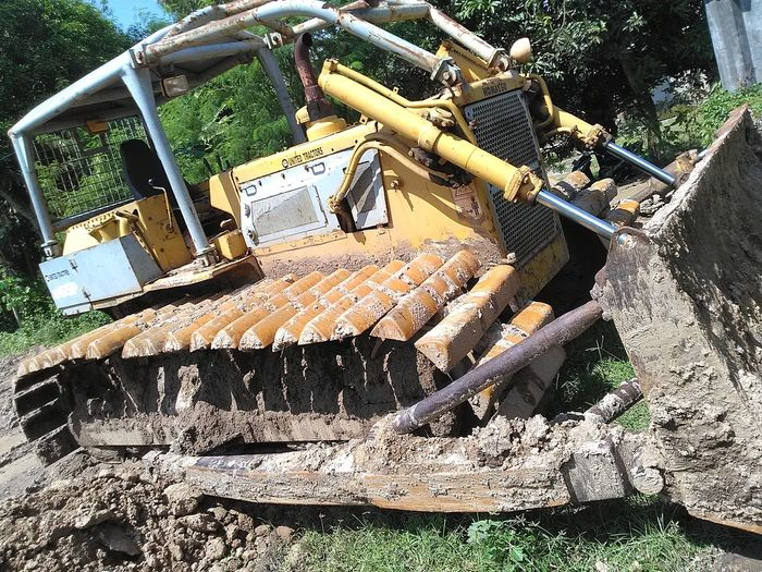 Buldozer Day Heavy Equipment Land Vehicle Mode Of Transport Nautical Vessel No People Outdoors Transportation Water