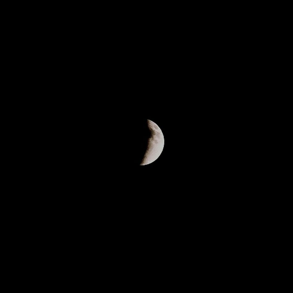 Fourth phase of the eclipse. Moon Moonlight Night Zoom