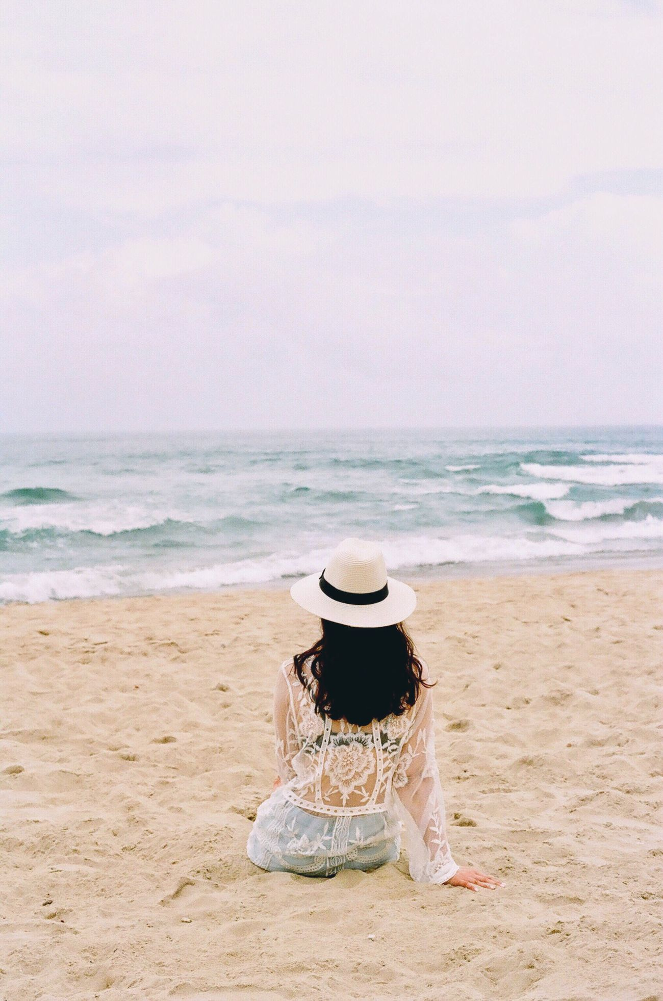 Film Photography Beach Sea Outdoors Nature Sky Sand Filmisnotdead Relaxing Vietnam Danang Mykhebeach Holiday Calm Getsomerest One Person Analogue Photography Vacation Fashion Woman Hat