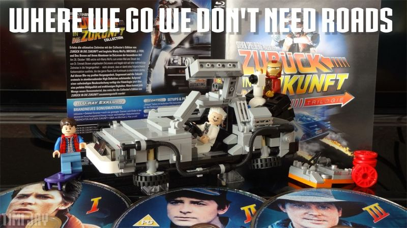 Backtothefuture Bttf LEGO Delorean