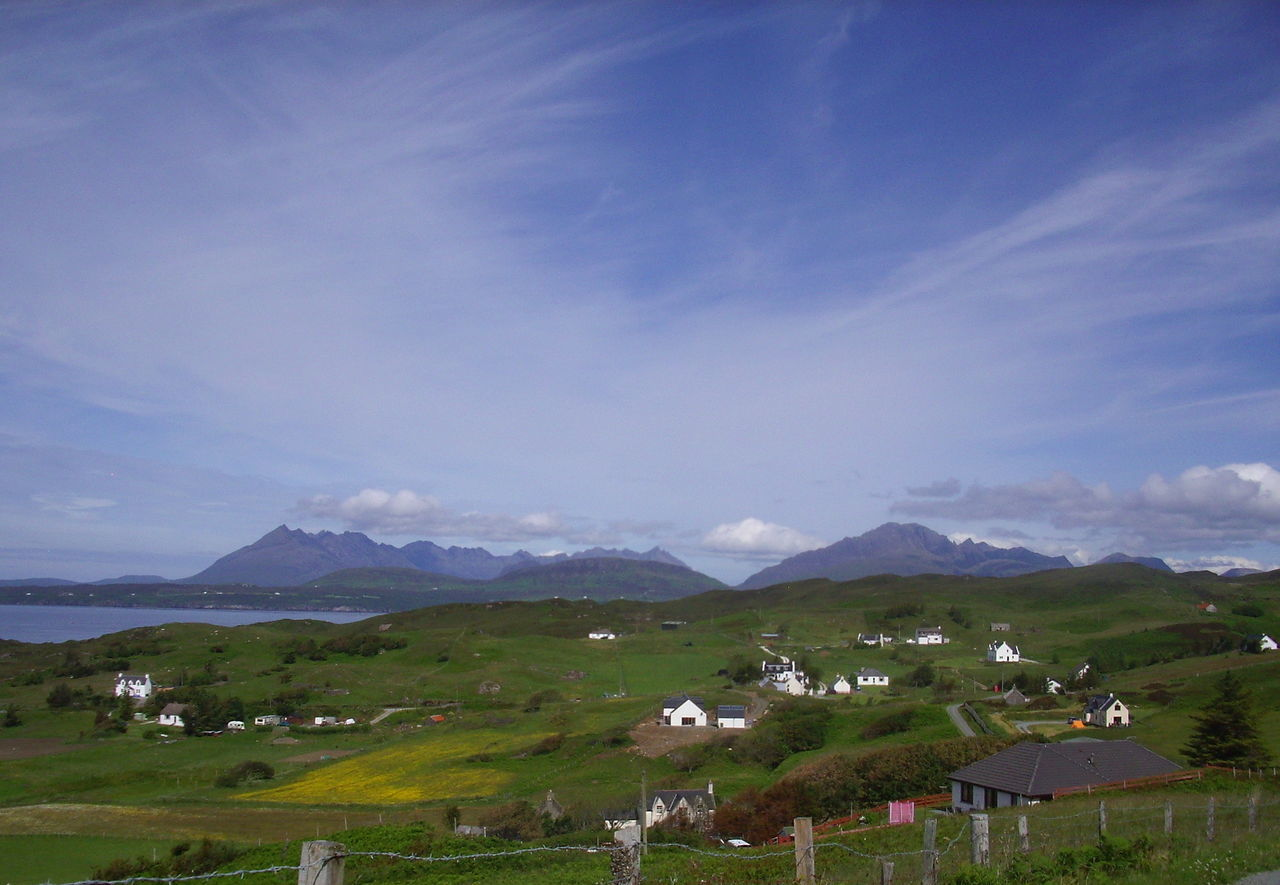 Mountians Nature Skye Scotland The Cuillins Countryside Tarskavaig
