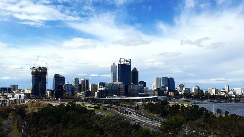 Architecture Urban Skyline City Skyscraper Sky Cloud - Sky Travel Destinations No People Western Australia Freemantle Perth