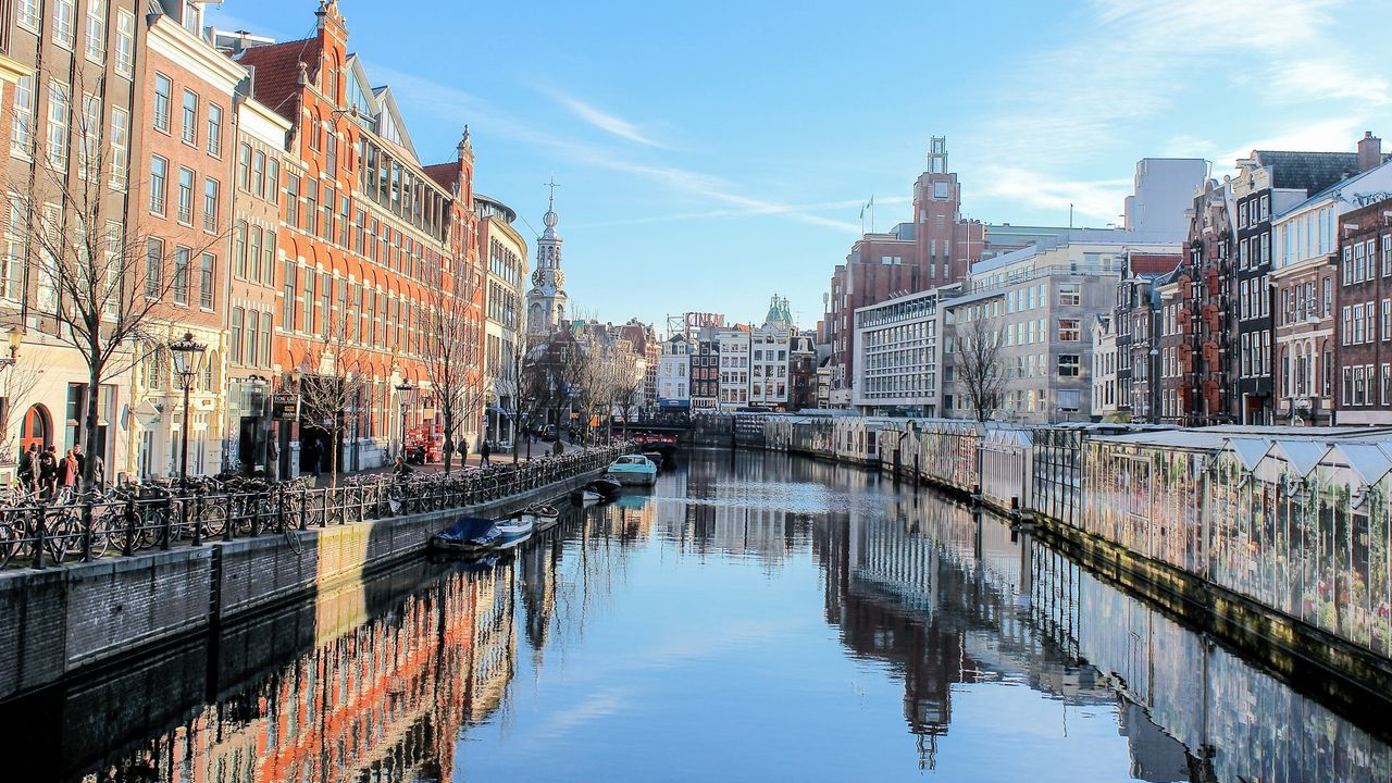 Amsterdam Netherlands Holland Photography Streetphotography Reflection Water Reflections Architecture Sky Traveling Travel Travel Photography Your Amsterdam