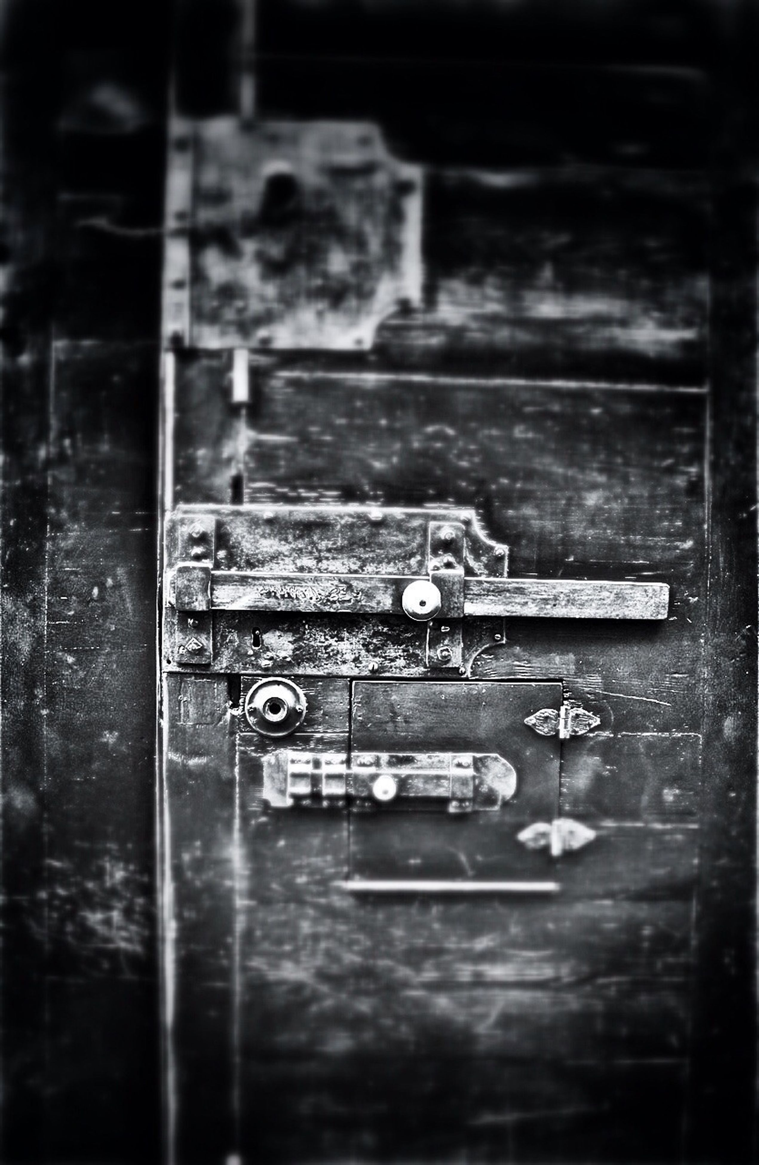 old, indoors, close-up, metal, abandoned, damaged, rusty, deterioration, door, run-down, weathered, obsolete, focus on foreground, wood - material, day, no people, text, selective focus, protection, wall - building feature