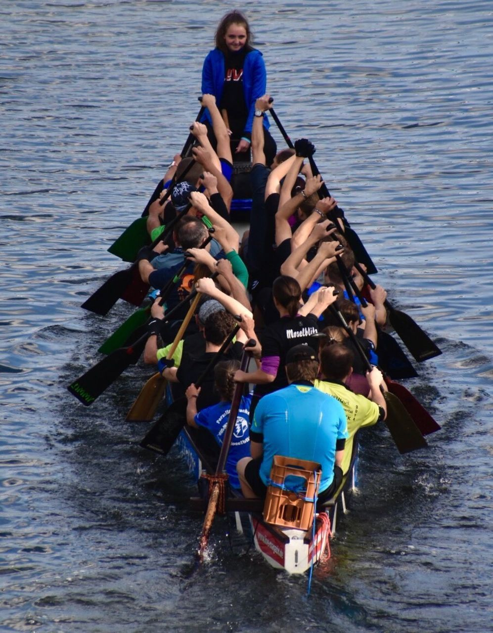 water, leisure activity, river, togetherness, real people, nautical vessel, oar, day, outdoors, men, nature, full length, rowing, young adult, women, young women, adult, adults only, people