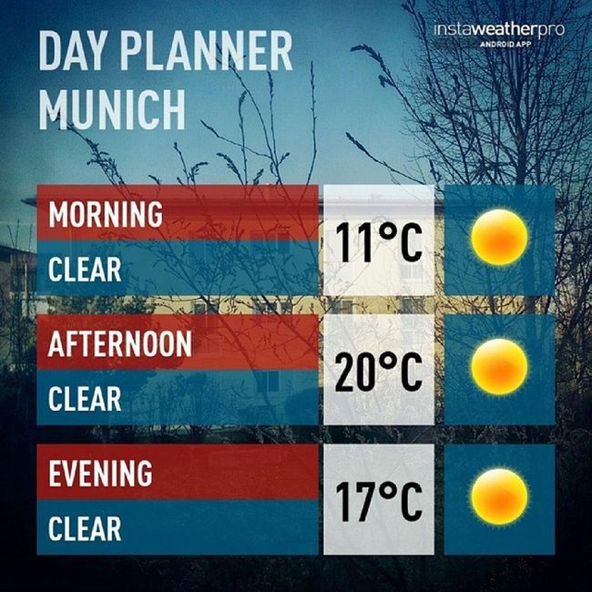 Lovely day ahead. Spring stays in Munich, at least for one more day. #TGIF #WeatherTweet #Munich Tgif Munich Weathertweet