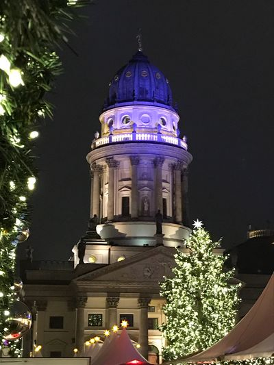 Deutscher Dom Architecture Building Exterior Built Structure Night Low Angle View Illuminated No People