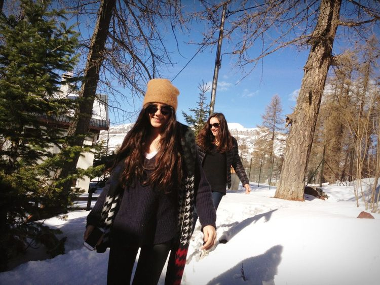 Beautiful Day Sunshining Sun Mountains Mountain Snow Snow ❄ Ski Hollidays Sister Sisters Smile Valberg