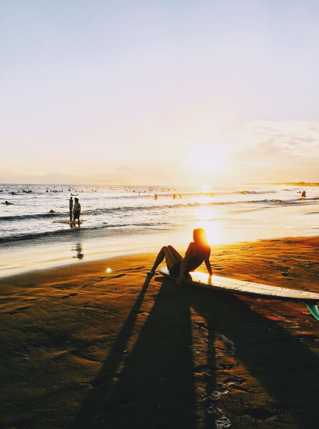 Sunset beach Sea Beach Sunset Travel Destinations Beauty In Nature Tourism Travel IPhoneography Iphineonly