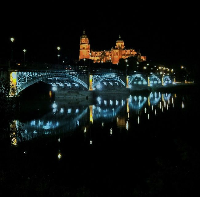 Salamanca Nightphotography Bridge Light JohnnyGarcía Photography Photographer Night Photography Night River