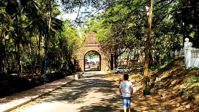 The Viceroy Gate at Goa... . Goa India Goa Collection Hanging Out Greenery Historic Landmarks Old And Rustic Viceroy Gate Goa Velha Goa