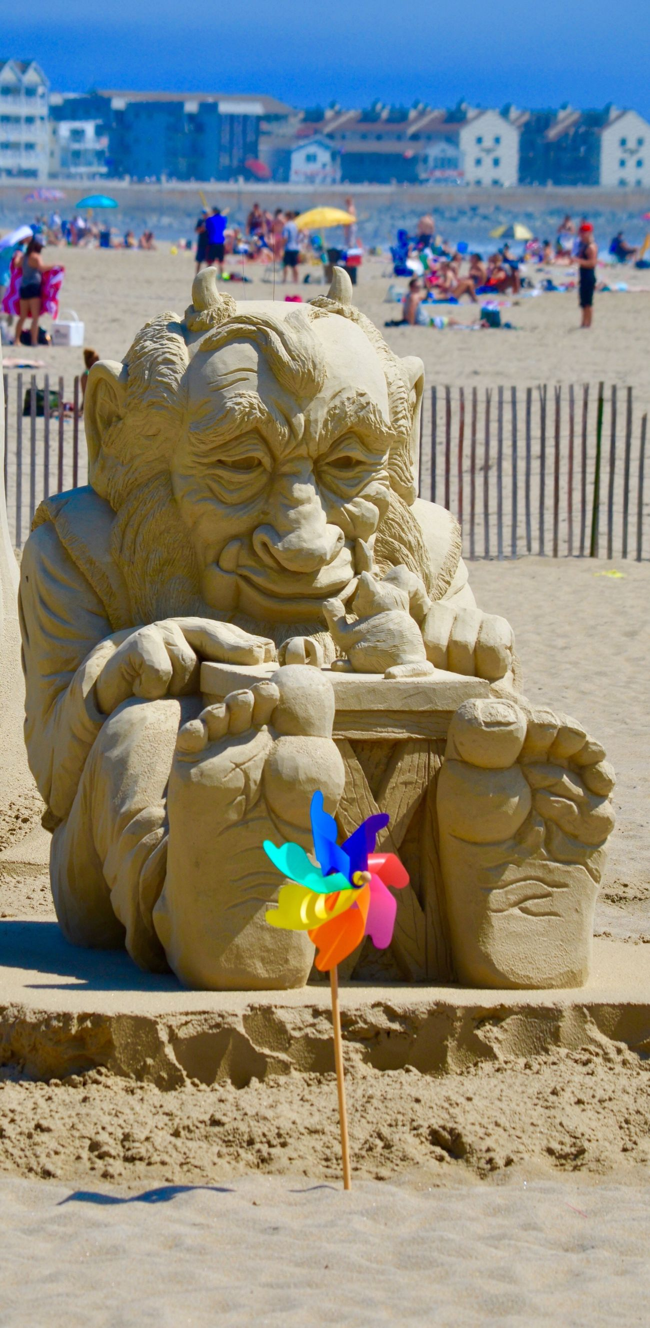 Sand castle competition☀️ Sculpture Travel Destinations Outdoors Beach Statue Sand Sky Close-up Beach Life Pinwheel Feet Sea Barefoot Beach Fun Digging In Sand Contest Ocean Photography Sandcastle Building