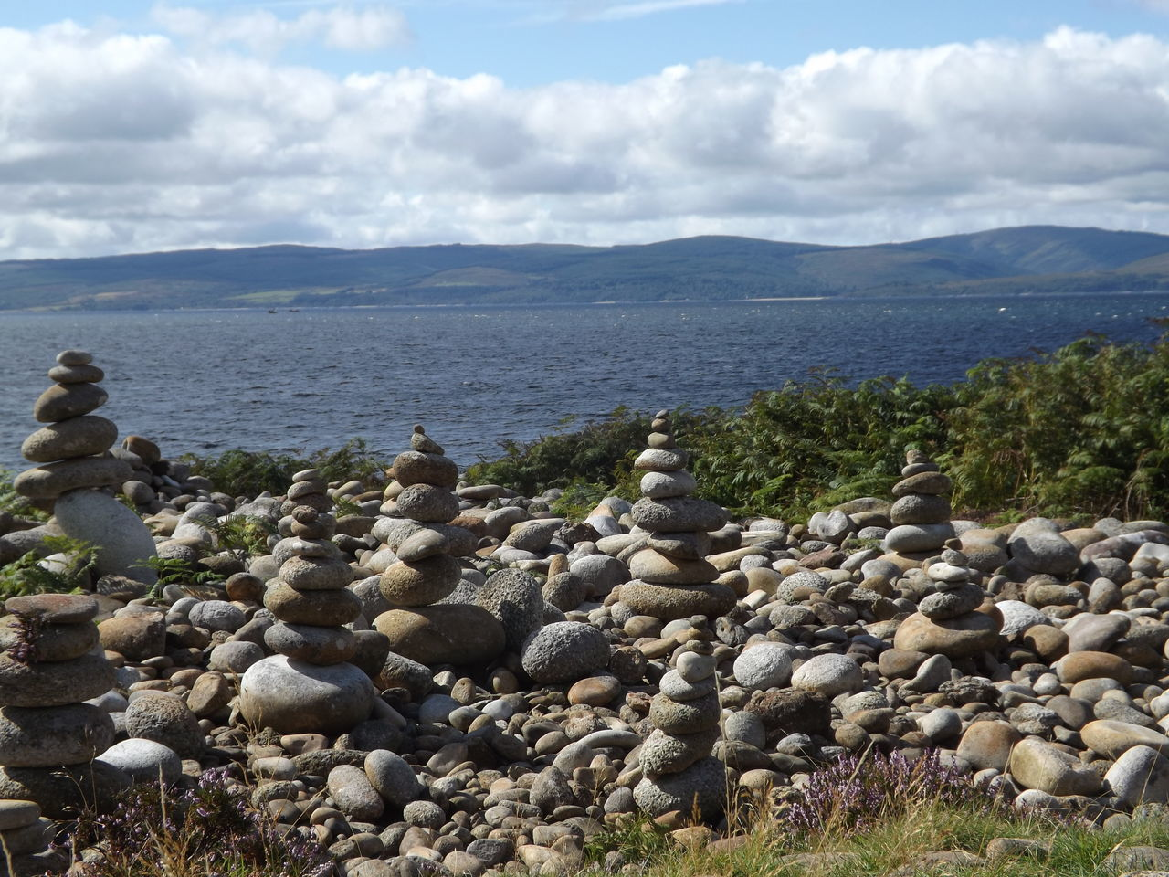 Day Isle Of Arran  Moment Natural Pattern Nature No People Outdoors Pattern Relax Relaxing Scenics Scotland Sea Sky Stone Stone Tower Trip