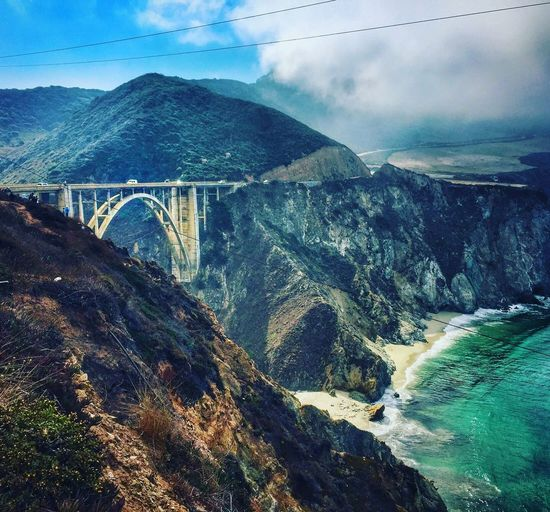 Bixby Bridge - Big Sur Big Sur California Nature Mountain Sky Beauty In Nature Mountain Range Scenics Cloud - Sky Day Built Structure Water Bridge - Man Made Structure Outdoors River Landscape Connection No People