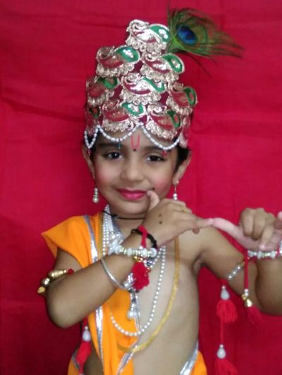 First Eyeem Photo One Child Only In Lord Krishna Get-up Rakesh Soi Photos