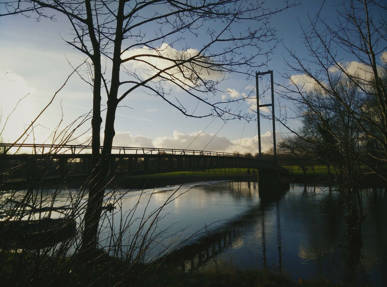 Found On The Roll The Great Outdoors - 2016 EyeEm Awards Bridge Park Blue Sky Water Reflections Water Tree And Sky Countryside