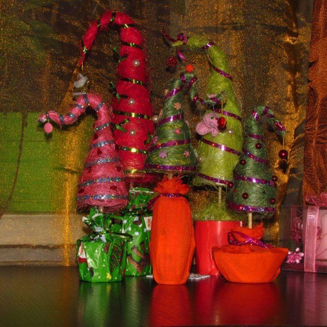 Они реально размножаются)))) ёлки сизаль ручная_работа рукоделие Кременчуг украина Ukraine hand_made Christmas_tree celebrate