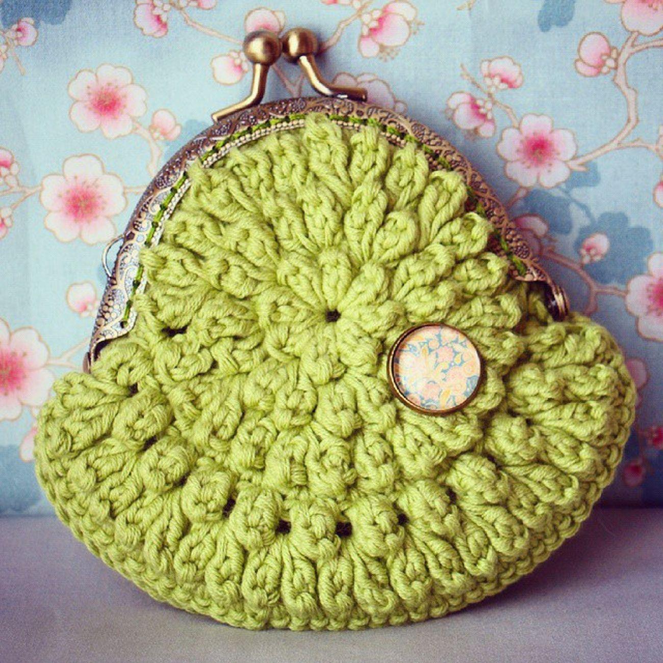 Verde que te quiero verde! Monedero Ganchillo Coinpurse Crochet Green Handmadewithlove Handmade