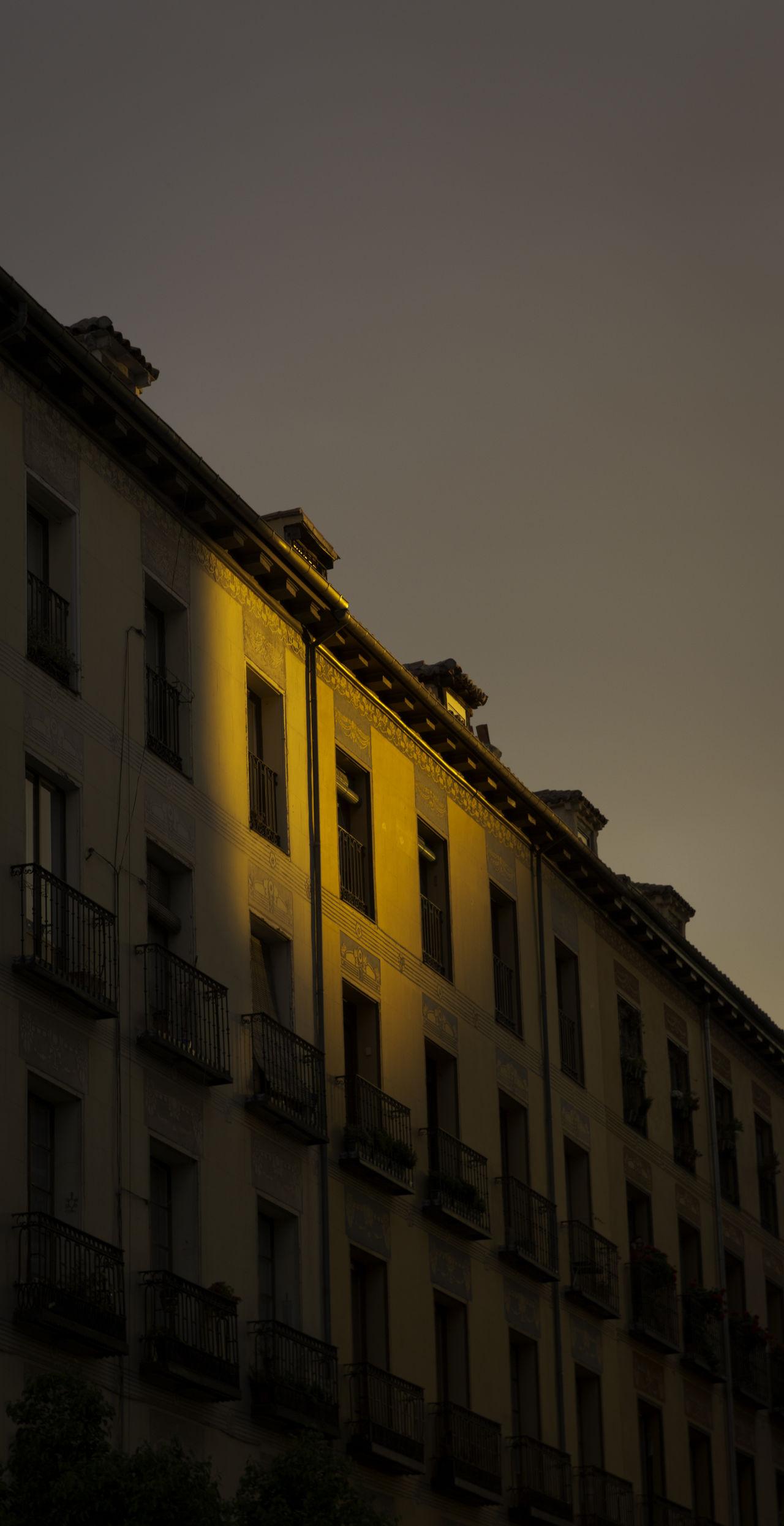 Architecture City City Life Façade Light Spot Low Angle View Madrid Sky Sunset Light The Architect - 2016 EyeEm Awards