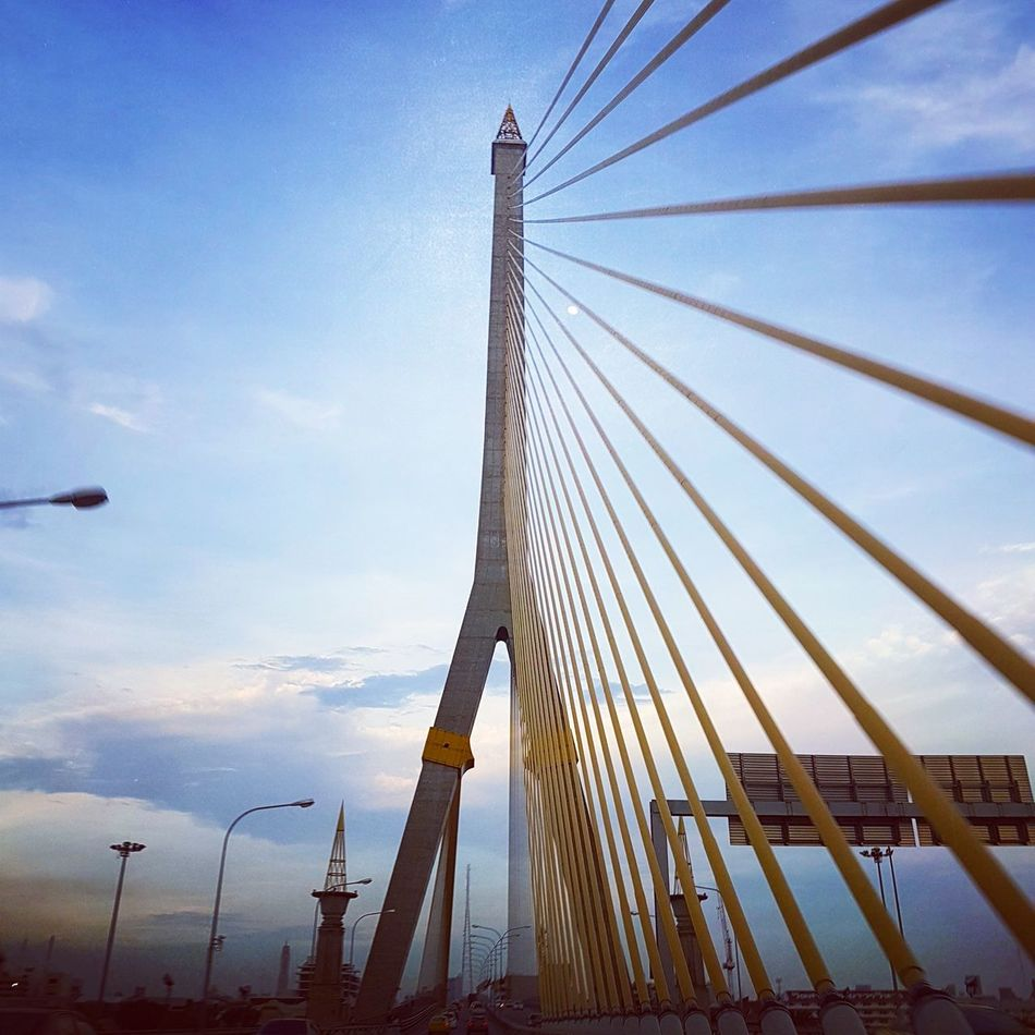 Sky Connection Outdoors No People Bridge - Man Made Structure Low Angle View Cloud - Sky Travel Destinations Business Finance And Industry Built Structure Cable Day Golf Club Architecture Nature Oil Pump Bridge Bangkok Best EyeEm Shot