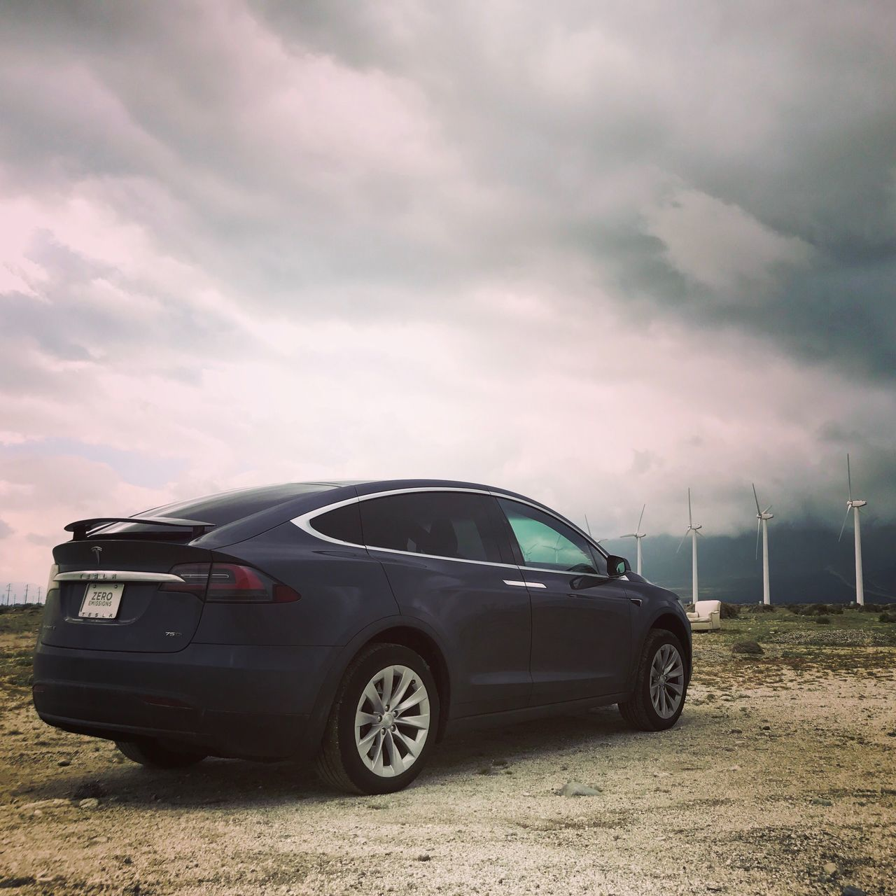 Zero Emissions // Car Cloud - Sky Sky Transportation Mode Of Transport Land Vehicle Stationary Outdoors No People Nature Day Tesla The Future Is Electric