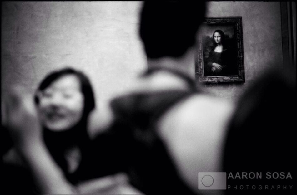 """""""MonaLisa"""" Paris - France / Photography by Aaron Sosa / www.aaronsosaphotography.com Buy this print: http://goo.gl/KR2uTc Photo Measures: 8.7 x 13 inches Passepartout Measures: 13.7 x 17.6 inches Printed on paper 100% cotton Ilford Galerie Prestige Silk 310gsm. Guarantees 200 years long durability. 50% OFF until April 15, 2014 To buy: Send screenshot to email aaronsosaphotographer@gmail.com Black And White Paris France Photography"""