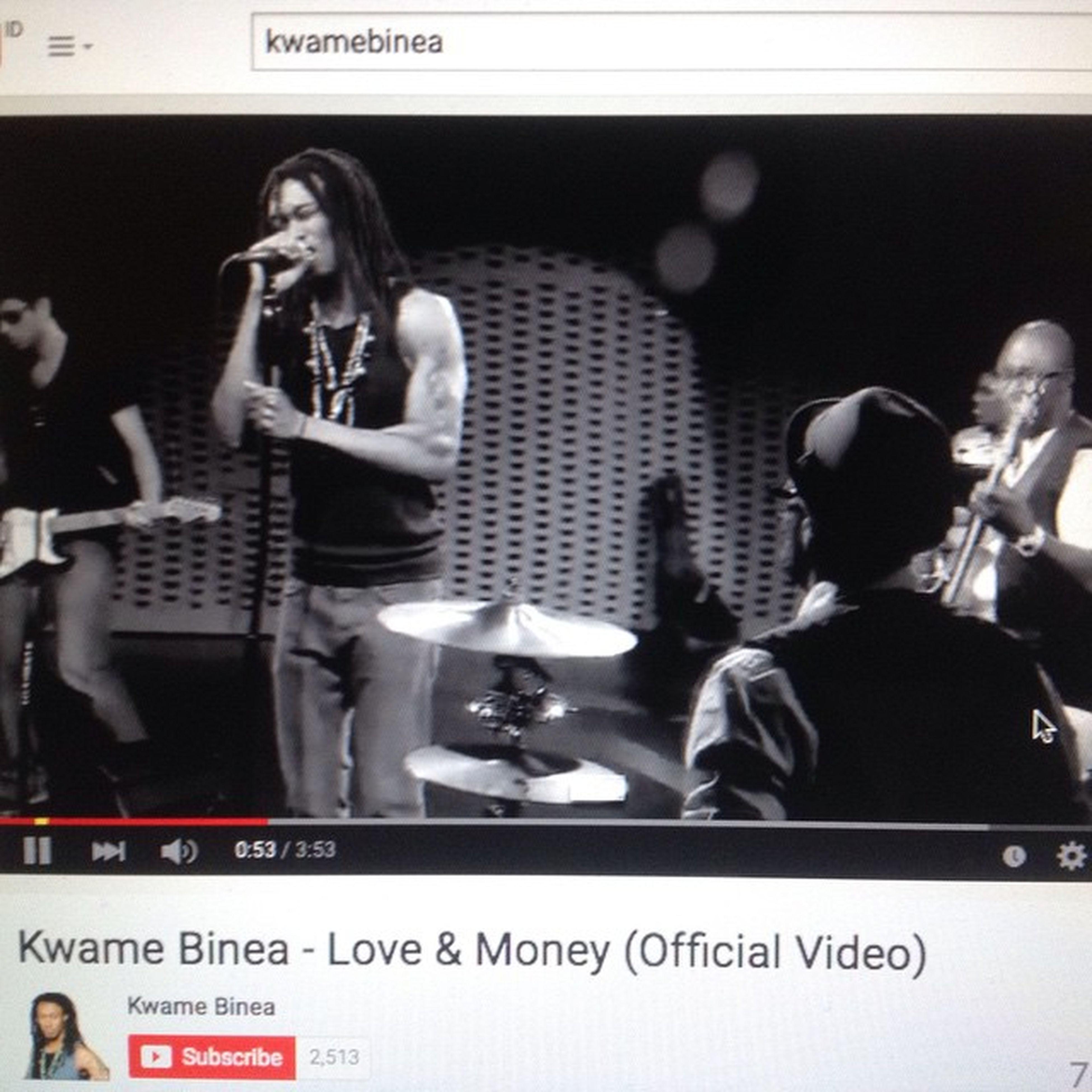 Thx for following me .. I've seen this video and i really love this song .. Good job man!!! @kwamebinea Kwamebinea Loveandmoney Singer
