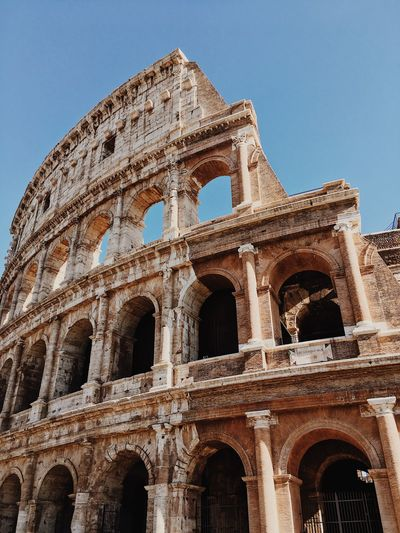 Low Angle View Built Structure Architecture Travel Destinations History Building Exterior Tourism Ancient Old Ruin Cultures Rome Italy Coluseum