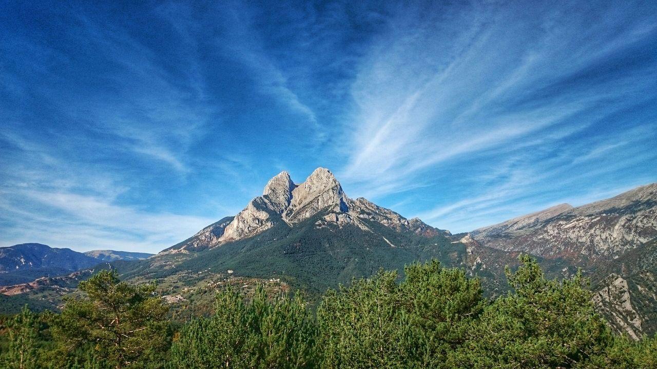 Elbergueda Landscape Catalonia Clouds