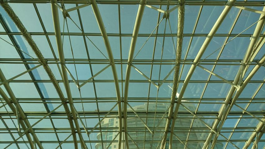 Architecture Built Structure Low Angle View Ceiling Indoors  Glass - Material Modern Architectural Feature Geometric Shape Day Skylight No People Repetition Architectural Design Lissabon Vasco Da Gama Portugal