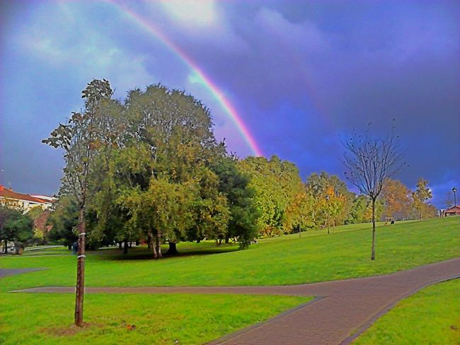 Rainbow over city Stornm Clouds Park Winter Hdrphotography Eye4photography  Urban Nature Wonderful Nature From My Point Of View