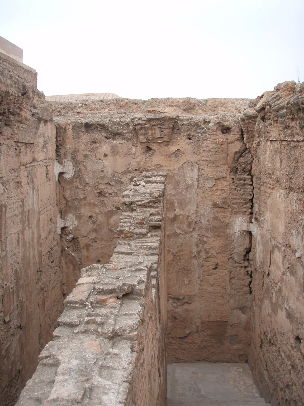 Africa Ancient Architecture Arid Climate Cloudy History Landscape Marrakech Marrakesh Morocco Old Old Ruin Overcast Palace Ruins Sky Stone Wall