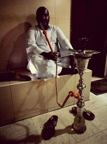 One Person Adults Only One Man Only Real People Indoors  Arabic Tradition Sitting Comfortably Arabs Arabic Culture