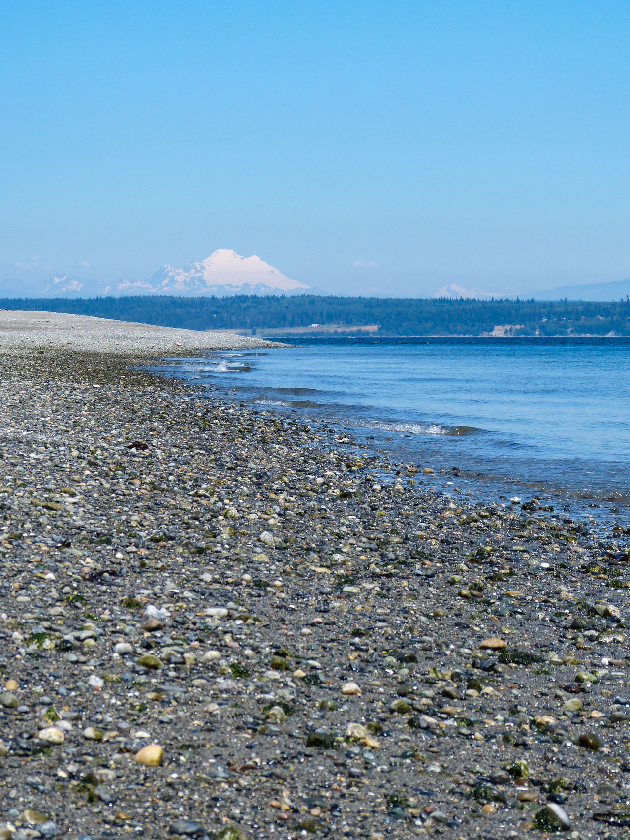 Beach Beach Photography Beachphotography Beauty In Nature Cascade Mountains Day Horizon Over Water Low Angle View Mt. Baker Pebbles Puget Sound Sea Sea And Sky Shore Water