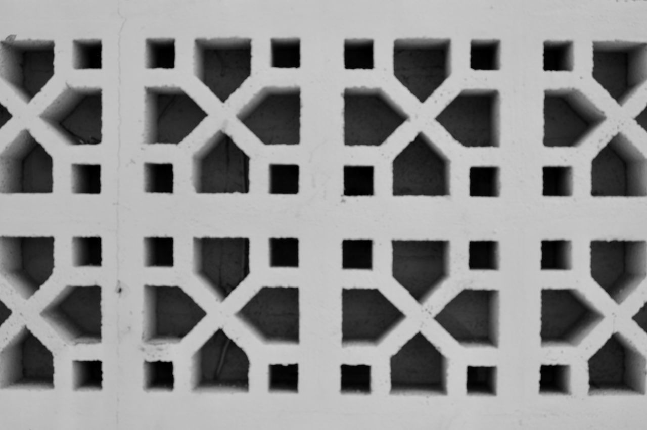 Buildingstyles Hot Climate Pattern Building Exterior Architecture Outdoors Textured  Symmetry Patterns Patterns & Textures Phoenix, AZ Phoenix City Walk Black & White