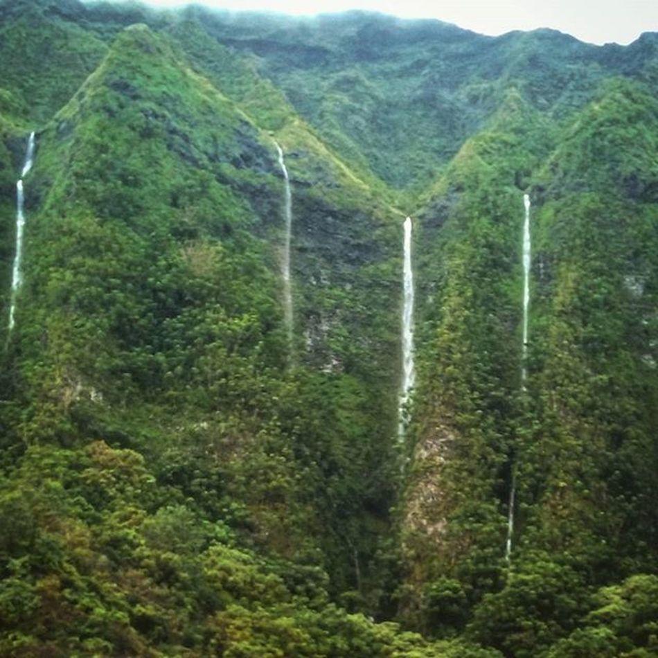 Here's another shot Luckywelivehi Venturehawaii Epichi Hawaii Waterfalls Koolaumountains Oahu Latergram