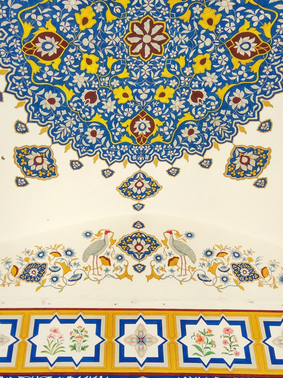 floral pattern, pattern, design, multi colored, art and craft, no people, indoors, close-up, day
