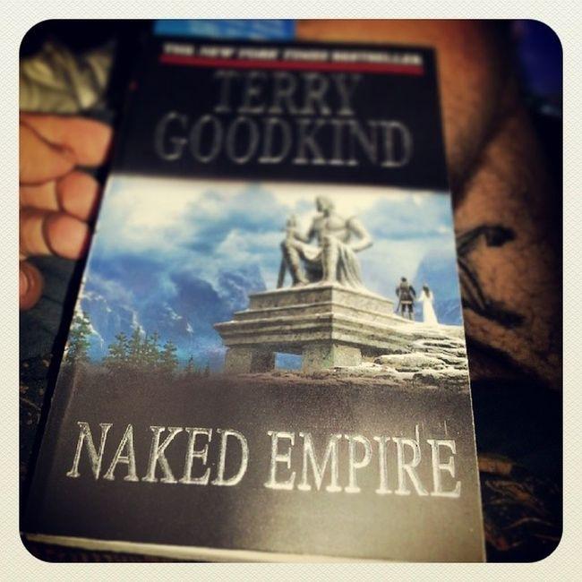 The saga continues! Terrygoodkind Book8 Numbo8 Number8 nakedempire swordoftruth epicseries 4togo richardandkahlan somuchreading stillsick lotsofreadingtime