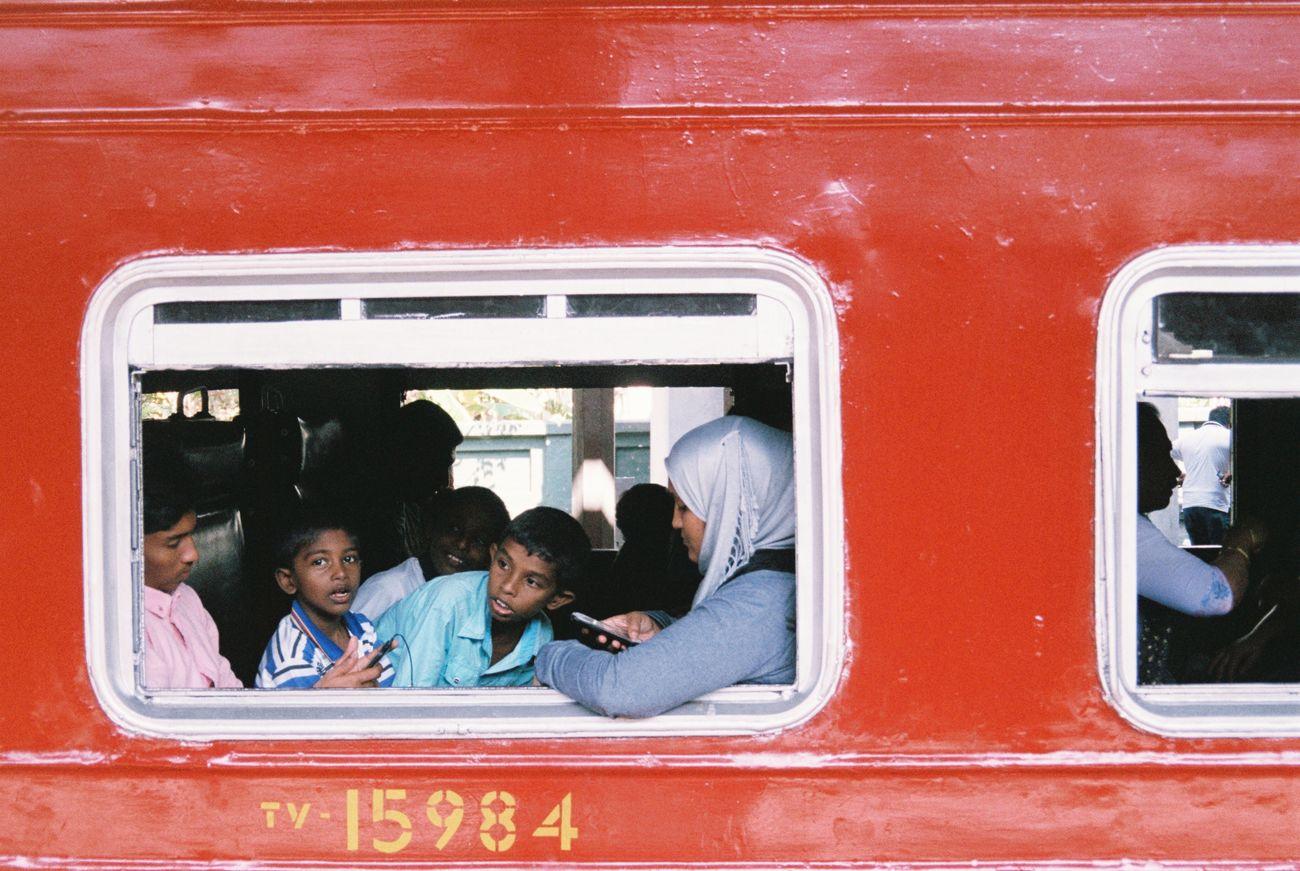 Snap a Stranger Sri Lanka Public Transportation Film Photography 135film On The Train Film Traveling Home For The Holidays