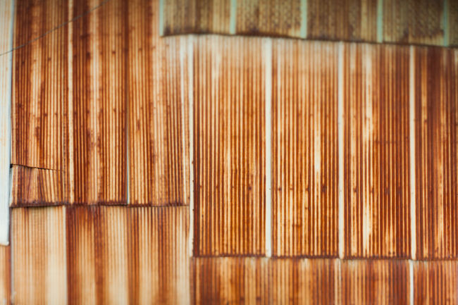 Abstract background photo of corrugated iron. Abstract Backgrounds Close-up Corrugated Iron Corrugated Metal Design Grange Iron Man Material Metal No People Pattern Russia Rust Rusty Rusty Autos Rusty Metal Shallow Depth Of Field Soft Focus Vintage Wall