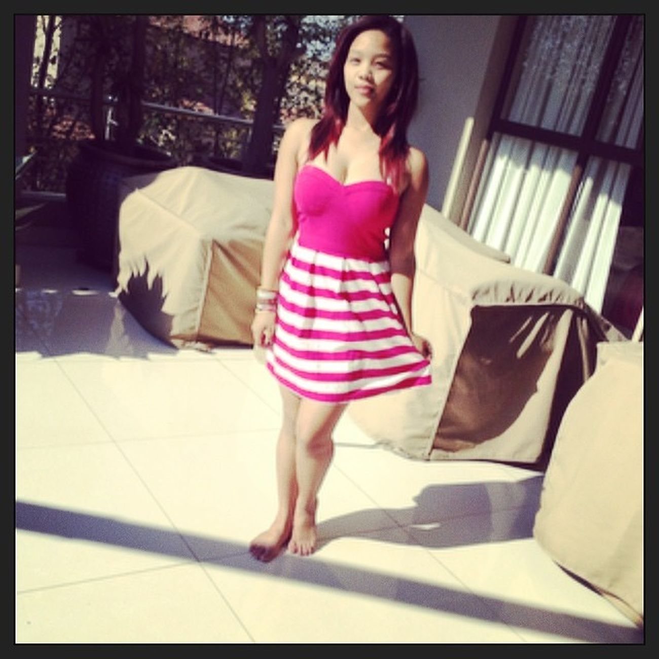 Mee Sundaydress Cutiecutie LOL home outside pink girly mwa