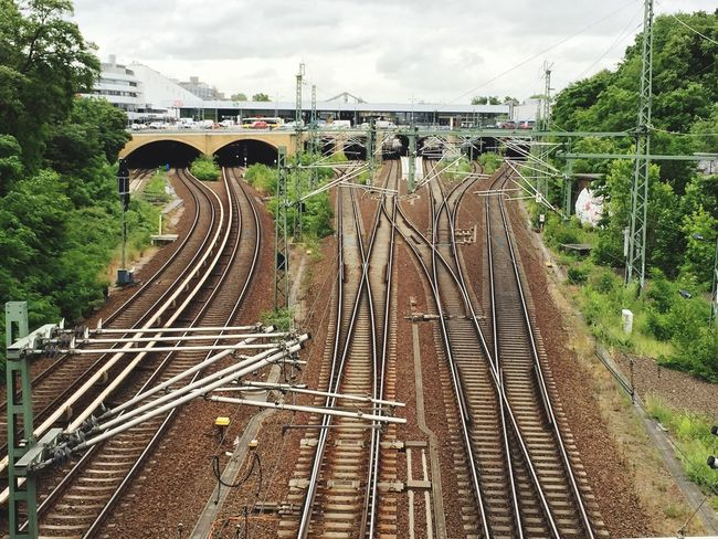 Train Tracks Lines View From Above